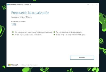Windows 10 Actualizando