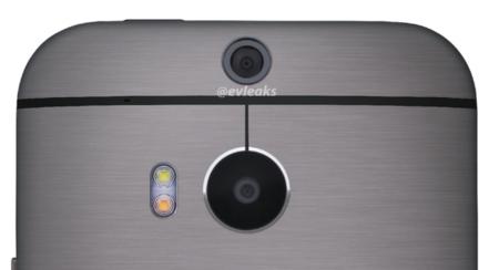 La doble cámara del nuevo HTC One se muestra con todo detalle