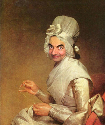 Mr Bean Cuadros Famosos 8