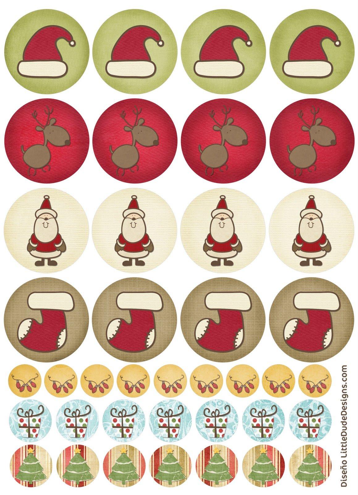 Tarjetas etiquetas y pegatinas de Navidad para imprimir