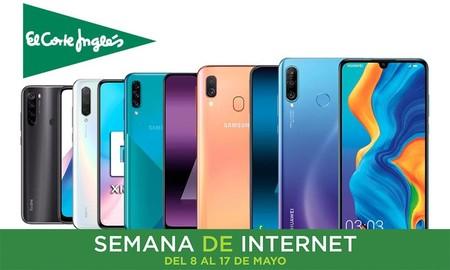 Semana de Internet en El Corte Inglés: los mejores smartphones Samsung, Xiaomi, Huawei y Oppo con hasta un 25% de descuento, envío gratis y recogida Click&Collect&Car