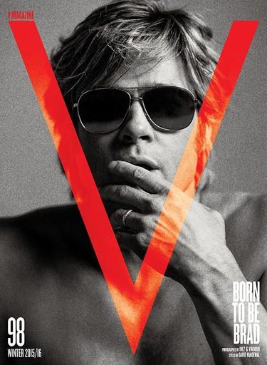 Totalmente enamorada de Brad Pitt a lo Robert Redford en V Magazine