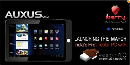 iBerry Auxus, una tablet con Ice Cream Sandwich para la India por 150 euros