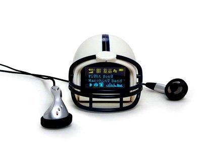 MP3 con forma de casco de fútbol