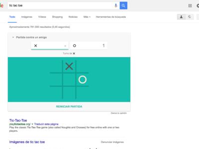 Adiós rendimiento, bienvenida dispersión: Google permite jugar al solitario y  al Tres en raya en sus resultados