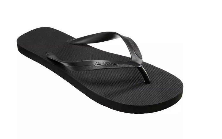 Chanclas Hombre de Playa Surf Olaian TO 100 Negro