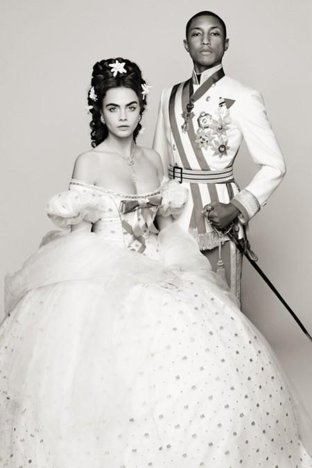 Pharrell y Cara Delevingne, la extraña pareja de Chanel
