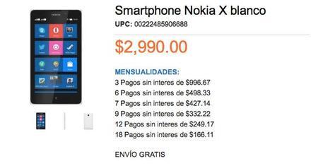 Nokia X, de venta en Walmart a 2990 pesos