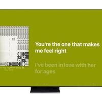 Apple Music ya ofrece las letras de las canciones en tiempo real en los televisores inteligentes de Samsung