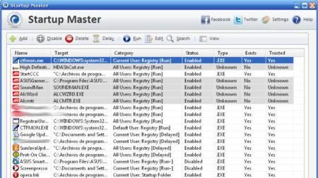 Startup Master, una ayuda para administrar los programas que se inician con Windows