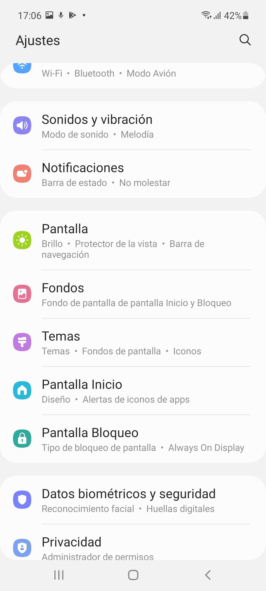 One UI en Galaxy A52 5G