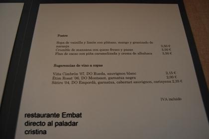 Foto de Restaurante Embat (10/13)