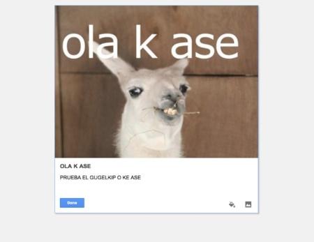 google keep nota imagen