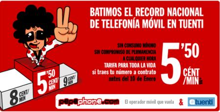Pepephone comienza a extender su tarifa de 5.5 céntimos/minuto