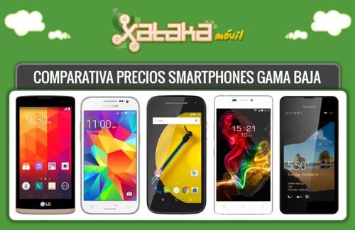 Comparativa precios Moto E 4G, Galaxy Core Prime, Lumia 550 y los móviles más baratos a plazos o libres