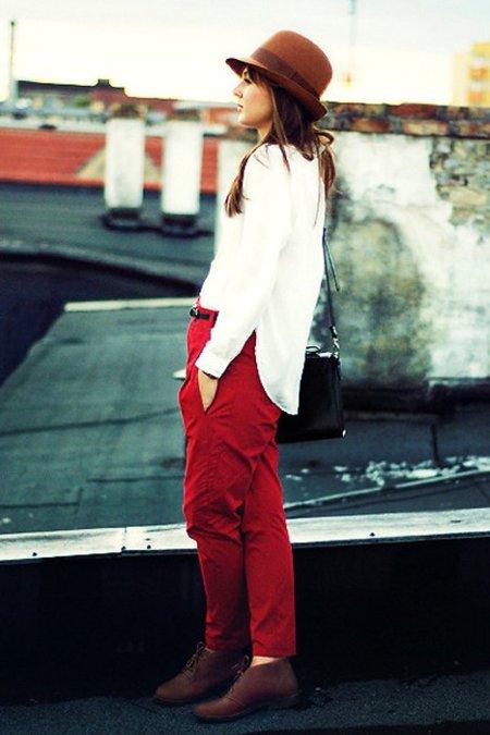 Rojo blanco moda