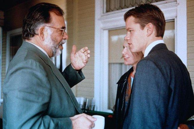 Francis Ford Coppola, Claire Danes y Matt Damon en el rodaje de Legítima Defensa