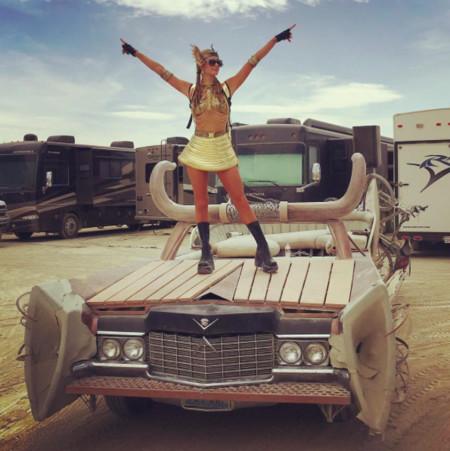 Burning Man, no sé muy bien lo que es pero estaba lleno de celebrities