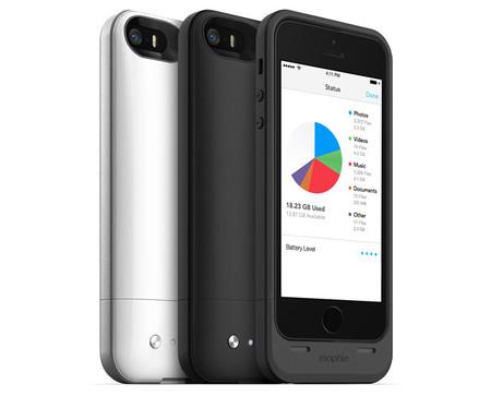 Mophie Space Pack, una funda que trae más batería y almacenamiento a los iPhone 5/5s