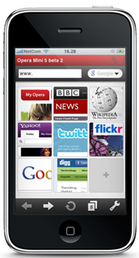 Opera Mini para iPhone será mostrado en el Mobile World Congress