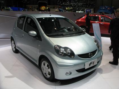 Los coches chinos llegan a Europa