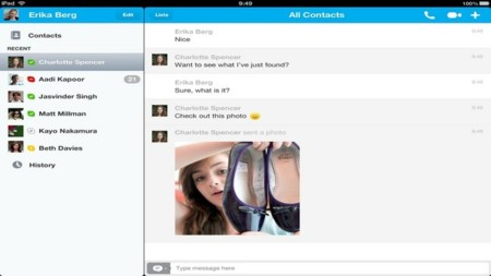 Skype ya permite compartir fotos en iPad y iPhone