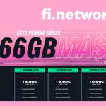 Fi Network regala 66 GB válidos durante tres meses en verano