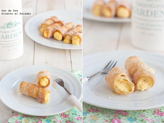 Las recetas de nuestras madres: Cañas fritas rellenas de crema