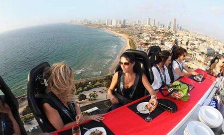 Dinner in the Sky, la experiencia de comer en las alturas