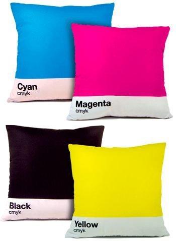 CMYK, cojines para diseñadores digitales