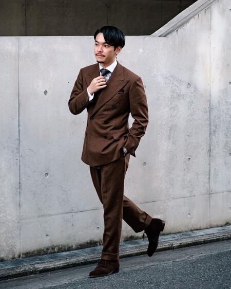El Mejor Street Style De La Semana Brown Suit Trendencias Hombre 12