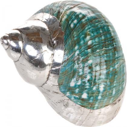 Decoración de lujo con las conchas de plata de L'Artigiano