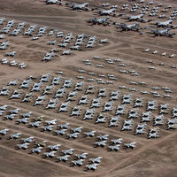 Más de 4.000 aviones en casi 11 kilómetros cuadrados: así es el mayor cementerio de aviones del mundo