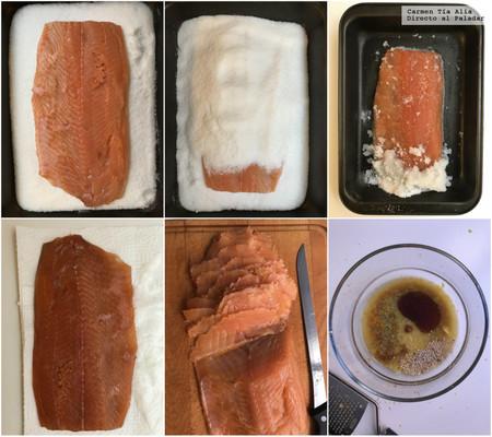 Paso A Paso Tiradido De Salmon Marinado Con Sesamo