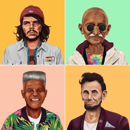 ¿Y si los grandes líderes mundiales se hubieran hecho hipsters?