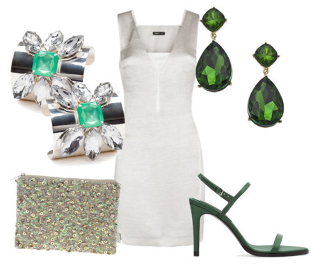 Look gris y verde