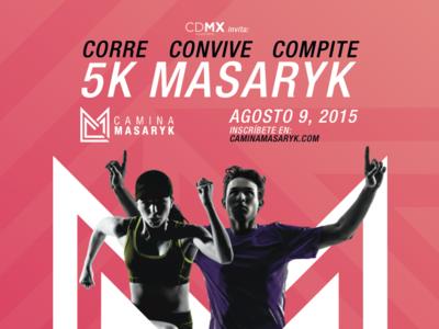 Carrera 5k en Masaryk #CaminaMasaryk