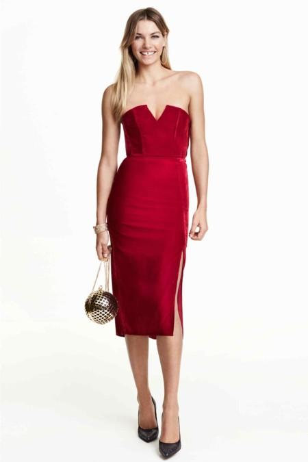 Vestido Terciopelo Rojo Hym