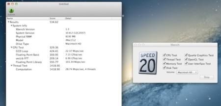 Análisis iMac 27 Xbench