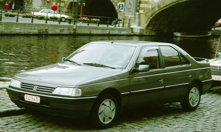 Peugeot 405 With Canal In Belgium