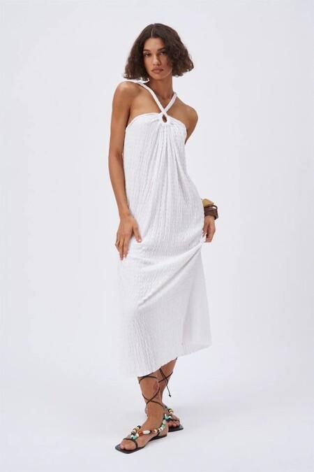 Vestido Blanco De Zara 2