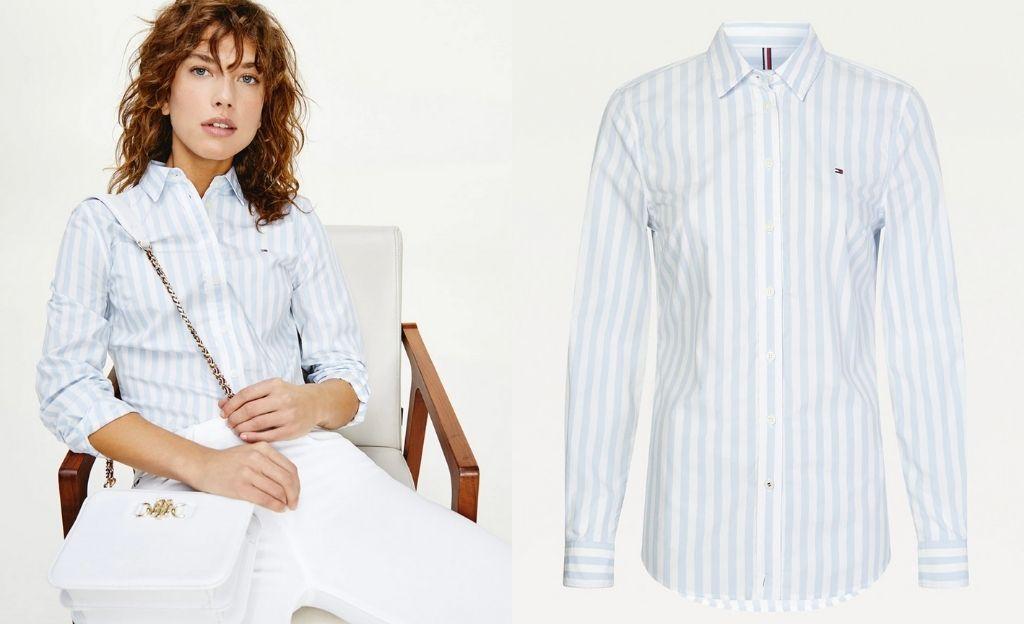 Camisa básica de mujer de algodón orgánico con manga larga