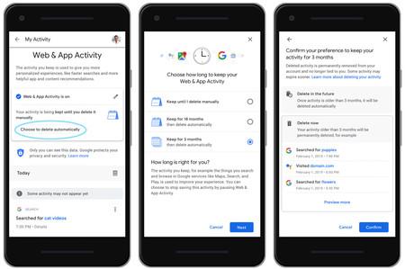 Borrar Actividad Google Automaticamente