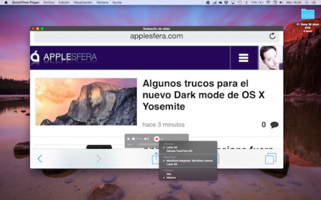 ¿Cómo capturo video de mi dispositivo iOS 8 en OS X Yosemite?