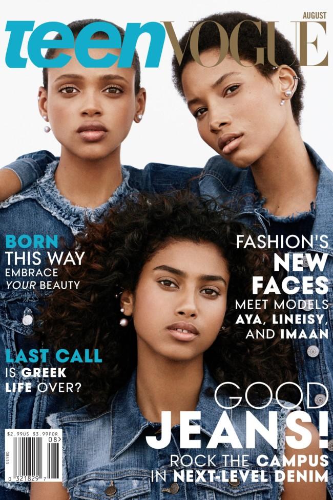 Teen Vogue Portada Agosto 2015 Lineisy Montero Imaan Hammam Aya Jones 1