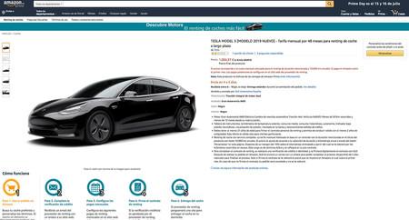 Tesla Model 3 Renting Amazon