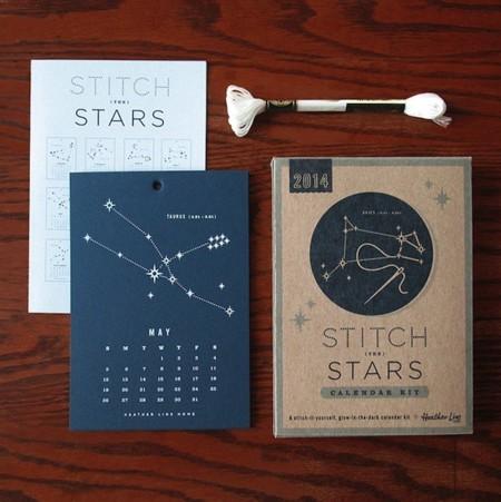 calendario diy estrellas