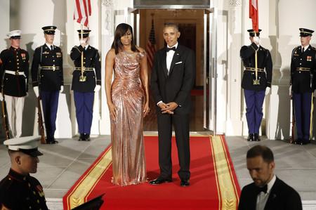 Michelle Obama Versace Casa Blanca 2016 2