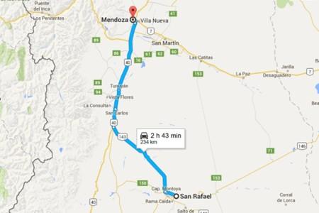 Tramo San Rafael Mendoza