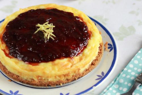 Ginger Cheesecake. Receta de la sorprendente tarta de queso y jengibre